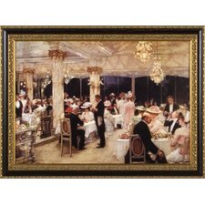 <strong>Phoenix Galleries</strong> Evening at the Plaza Canvas Transfer Framed Print