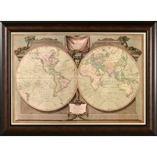 <strong>Phoenix Galleries</strong> World Map 1808 Framed Print