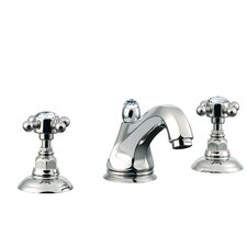Country Double Handle Widespread Bathroom Faucet with Cross Handle and Pop-Up Drain