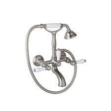 Exposed Wall Mounted Tub Shower Mixer in Polished Chrome