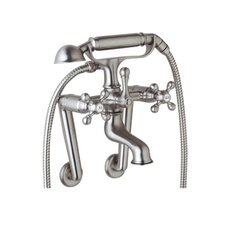 Cisal Double Handle Wall Mount Clawfoot Tub Faucet