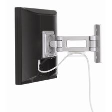 "Single Arm Small Swivel / Tilt Universal Wall Mount for up to 22"" LCD"
