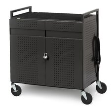32-Compartment Basic Micro Computer Netbook Storage Cart