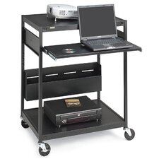 "<strong>Bretford Manufacturing Inc</strong> Data Projector Cart, 4 Outlets, 20' Cord, 32""x24""x42"", Black"