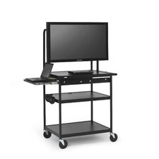 Cart with Laptop Shelf for Flat Panels