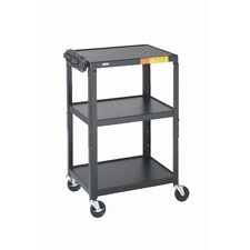 "<strong>Bretford Manufacturing Inc</strong> 26 - 42"" High UL Listed Adjustable Audio Visual Cart"