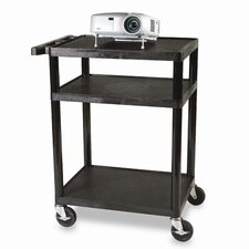 "<strong>Bretford Manufacturing Inc</strong> 26 - 42"" Adjustable Height UL Listed Plastic Duo Utility Cart"