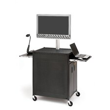 Flat Panel Cart with Locking Cabinet