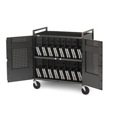 32 Netbook Cart with Antimicrobial Surface in Anthracite