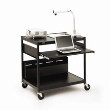 "Projector / Laptop Presentation Cart with 4 Electrical Outlets - 33"" H"