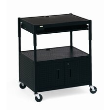 Height Adjustable Multimedia Cabinet Cart with Optional Electrical Unit