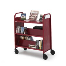 <strong>Bretford Manufacturing Inc</strong> Voyager Series Book & Utility Truck with Flat Upper Shelf