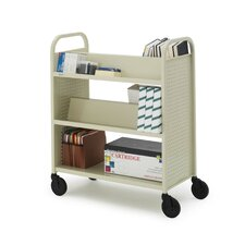 Voyager Series Book & Utility Truck with Double-Sided Upper Shelf
