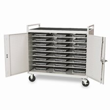 "24 Notebook Computer Cart with 5"" Casters (fully assembled)"