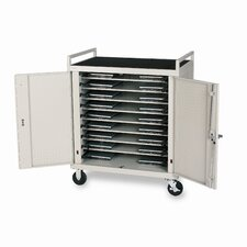 18-Compartment Laptop Cart