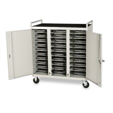 30-Compartment Laptop Cart