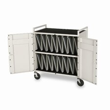 15-Compartment Tech-Guard Laptop Storage Cart
