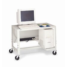 "<strong>Bretford Manufacturing Inc</strong> 27 - 41"" Adjustable Height Computer Cart"