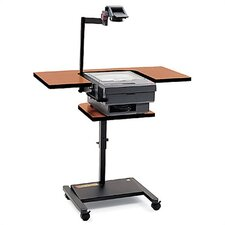 Adjustable Height Overhead Projector Cart