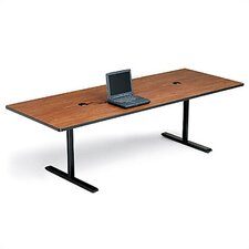 "<strong>Bretford Manufacturing Inc</strong> 42"" Deep Rectangle Conference Table - Two Grommet Holes"