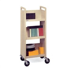"Three Shelf Booktruck, 17"" Wide"