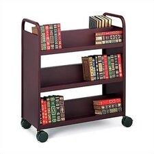 Mobile Utility Booktruck with Six Slanted Shelves