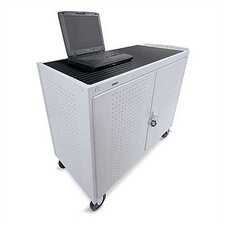 "18-Compartment UL Listed Computer Cart with 5"" Casters"