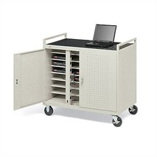 24-Compartment Welded Computer Cart