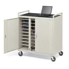 30-Compartment Welded Computer Cart
