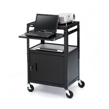 "26 - 42"" High UL Listed Adjustable Presentation Cabinet Cart"