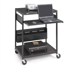 "<strong>Bretford Manufacturing Inc</strong> 42"" H Mobile Projector/Laptop Presentation Cart with Cord Bin and Electrical Unit"