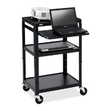 Multimedia Adjustable Cart with Casters