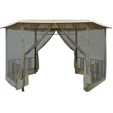 "9' 4"" H x 14' W x 14' D Gazebo Insect Screen"