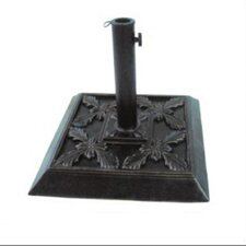 "13"" Free Standing Square Cast Stone Umbrella Base"