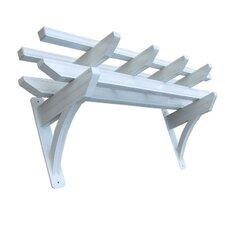 Wall 5 Ft. W x 2 Ft. D Aluminum Pergola