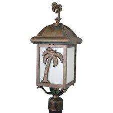 "Americana Palm Tree Series 1 Light 25"" Post Lantern"