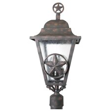 "Americana Lone Star Series 3 Light 27"" Post Lantern"