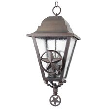 "Americana Lone Star Series 1 Light 26.5"" Hanging Lantern"