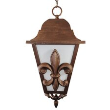 "Americana Fleur De Lis Series 1 Light 24.5"" Hanging Lantern"