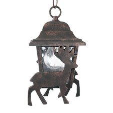 "Americana Deer Series 1 Light 11.75"" Hanging Lantern"
