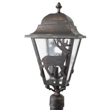 "Americana Deer Series 3 Light 25"" Post Lantern"