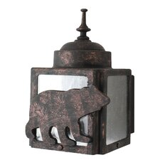Americana Bear Series Wall Lantern