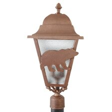 "Americana Bear Series 3 Light 25"" Post Lantern"