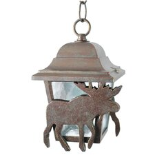 "Americana Moose Series 1 Light 9.75"" Hanging Lantern"