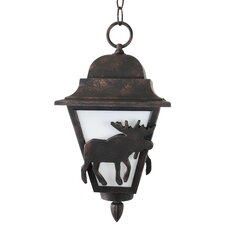 "Americana Moose Series 1 Light 16"" Hanging Lantern"