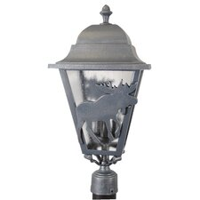 "Americana Moose Series 3 Light 25"" Post Lantern"