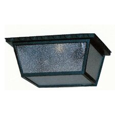 Kiss Series 1 Light Outdoor Flush Mount