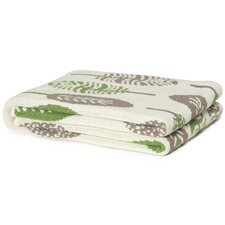 Eco Designer Mod Leaf Throw Blanket