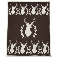 Eco Designer Stag with Vine Throw Blanket