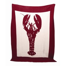 Eco Lobster Cotton Throw Blanket